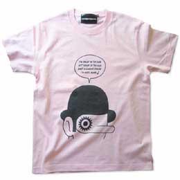 映画「時計じかけのオレンジ」モチーフTシャツ ライトピンク 画像