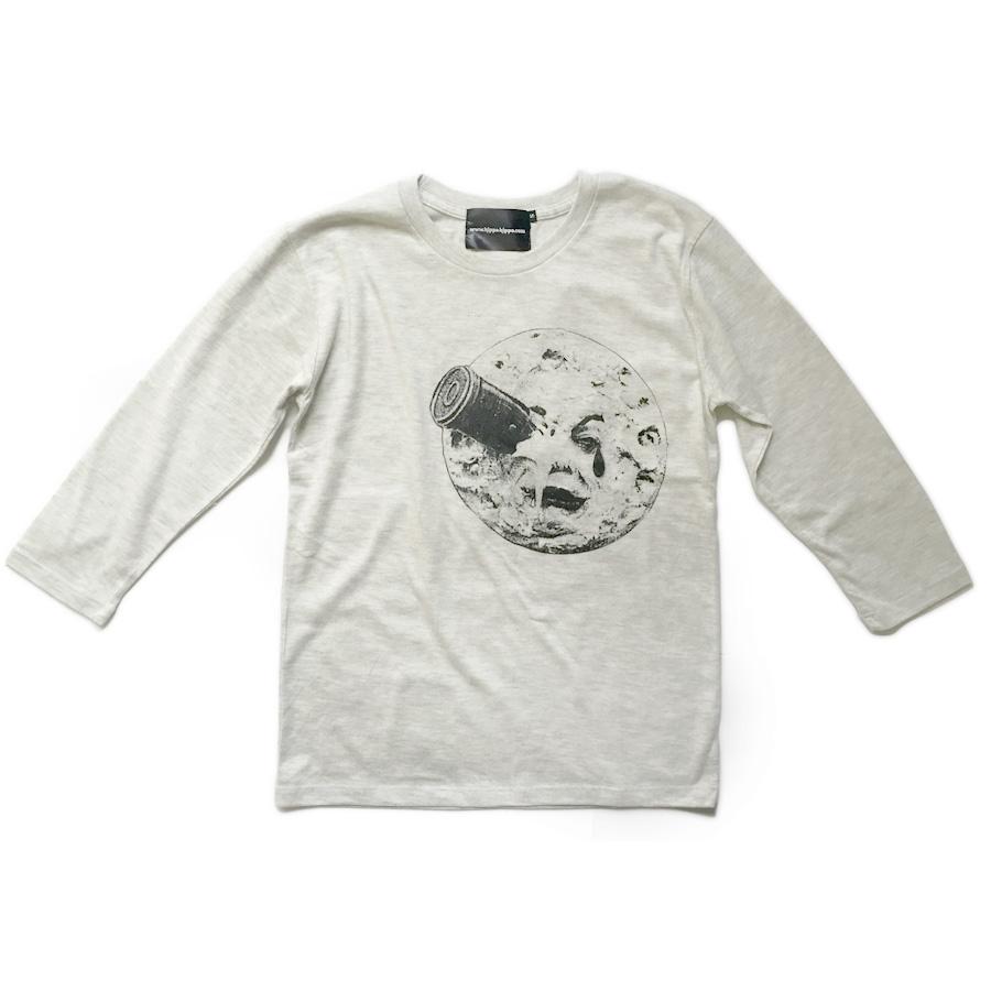 映画「月世界旅行」モチーフTシャツ オートミール 3/4 画像