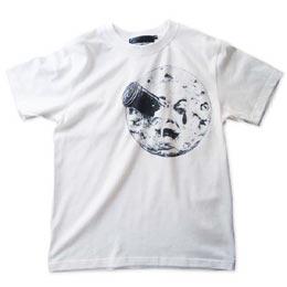 映画「月世界旅行」モチーフTシャツ ホワイト 画像